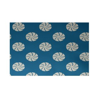 Comparison Decorative Holiday Geometric Print Turquoise Indoor/Outdoor Area Rug By The Holiday Aisle