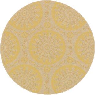 Arabian Yellow Indoor/Outdoor Area Rug by Charlton Home