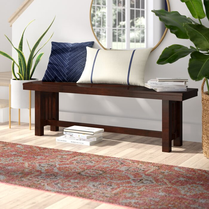 Groovy Gisla Wood Bench Gmtry Best Dining Table And Chair Ideas Images Gmtryco