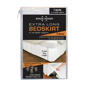 Space Saver Tailored Underbed Storage Bedskirt