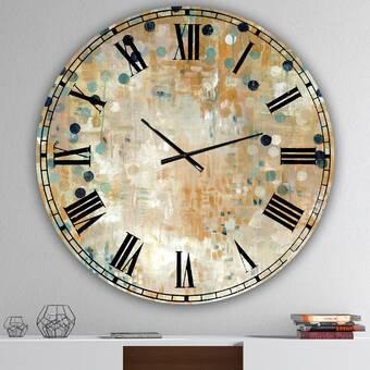 Ebern Designs Sentimental Cherry Abstract Metal Wall Clock Wayfair