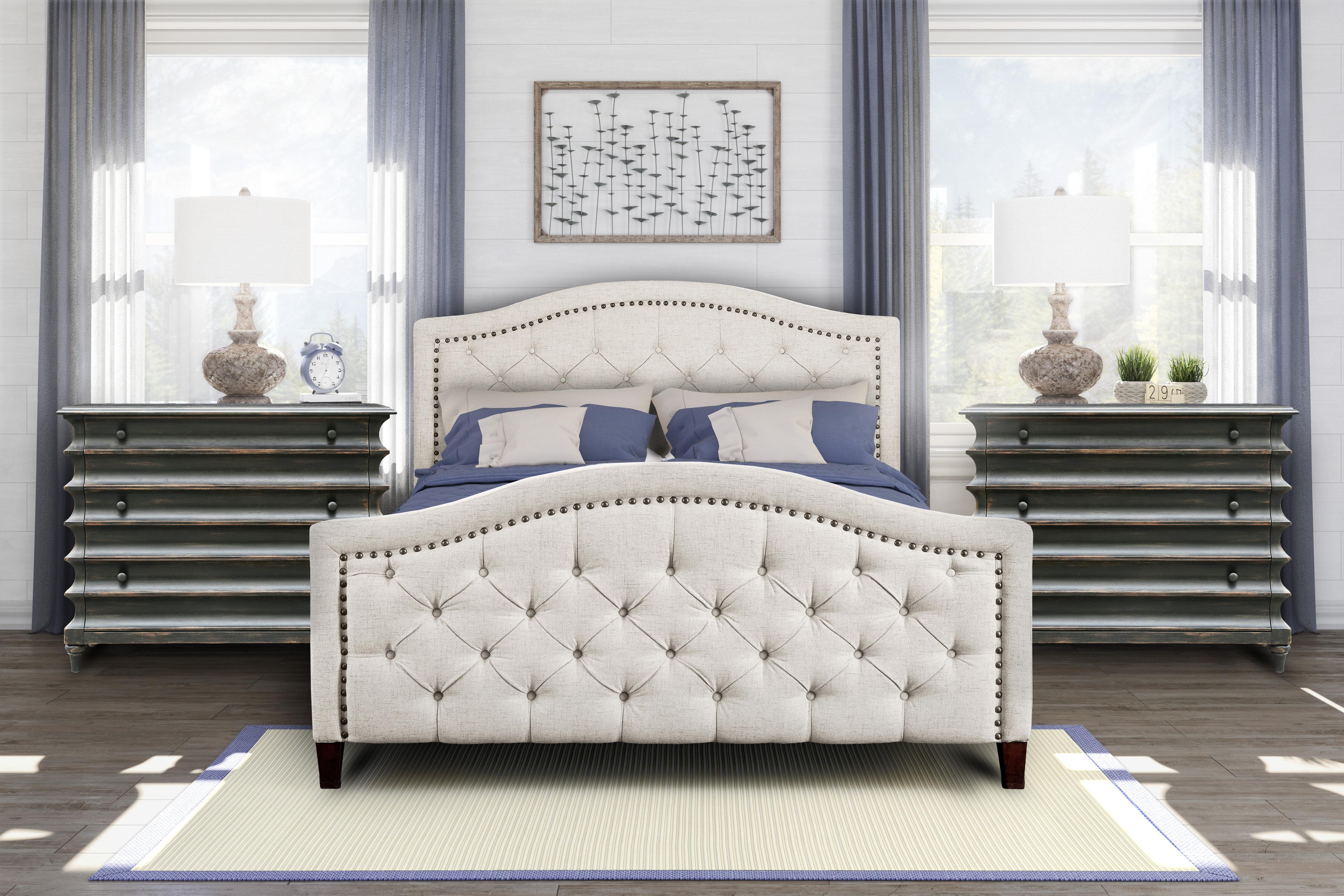 Alcott Hill Petersfield Tufted Upholstered Low Profile Platform Bed Reviews Wayfair Ca
