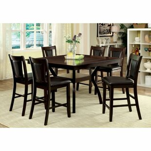 Nevaeh 7 Piece Counter Height Solid Wood Dining Table