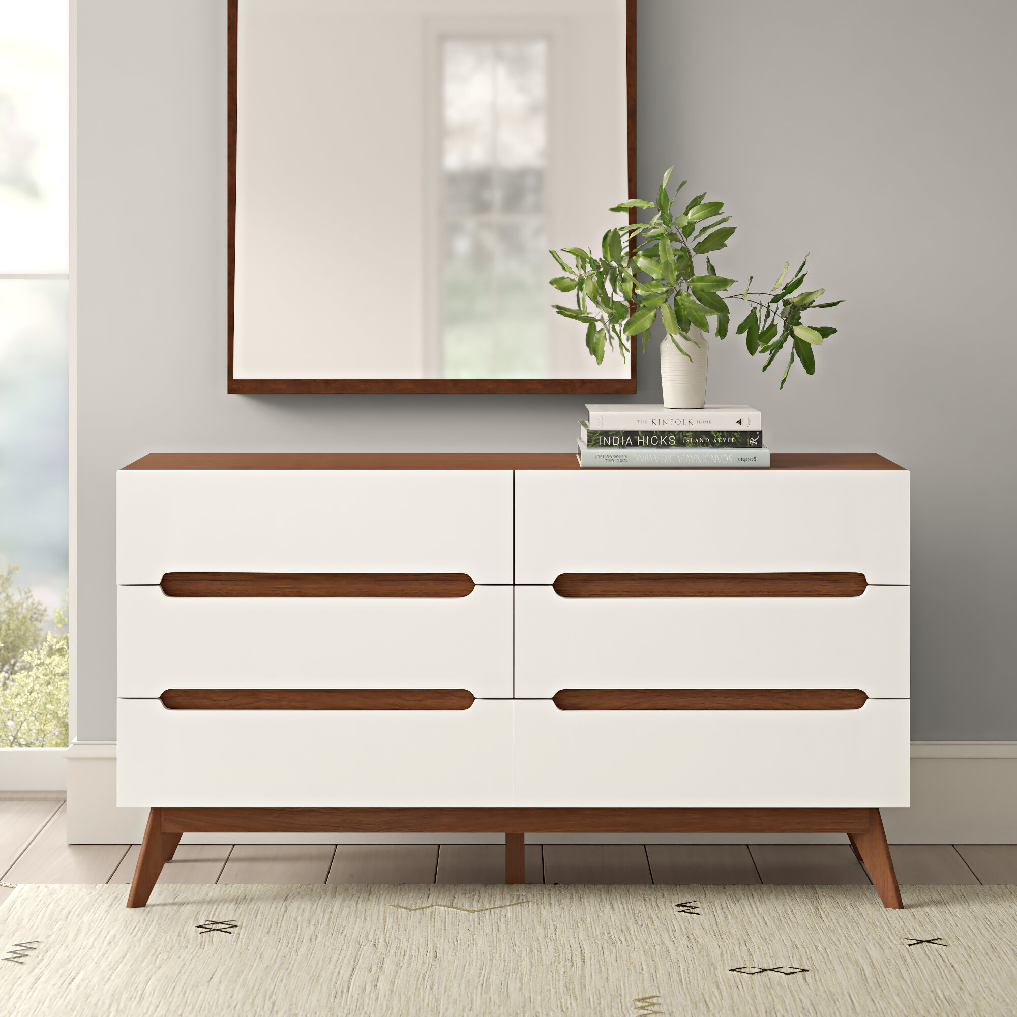 Melina 6 Drawer Double Dresser