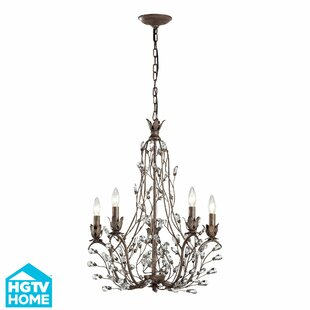 House of Hampton Creed 5-Light Candle Style Chandelier