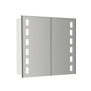 Aurora 65cm X 60cm Surface Mount Mirror Cabinet With LED Lighting By Wade Logan