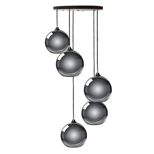 Ebern Designs Copeland Sphere 5-Light Cluster Pendant