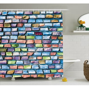 Berge Colored Mosaic Walls Single Shower Curtain