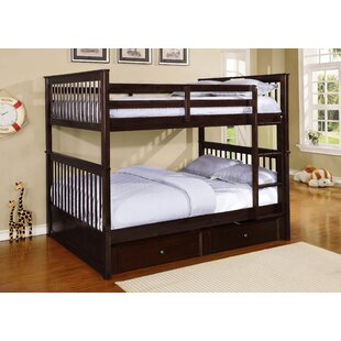 Kara Full Over Full Bunk Bed with Trundle/Drawers by Harriet Bee