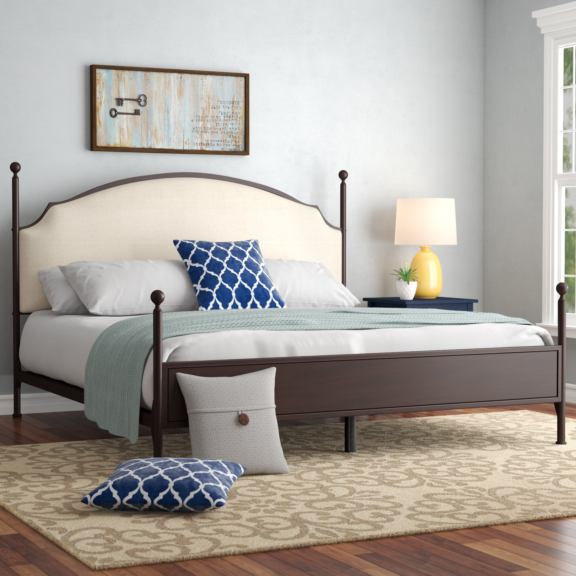 Three Posts Rockledge Upholstered Panel Bed Reviews Wayfair