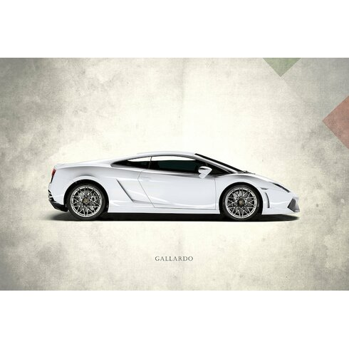 U0027Vintage Italia Series: Lamborghini Gallardou0027 Graphic Art Print On Canvas