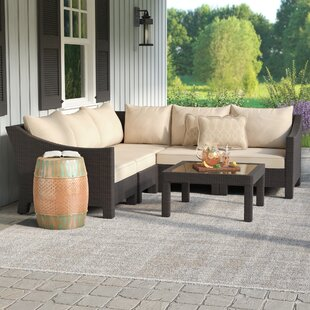 Coline 6 Piece Rattan Sectional Seating Group Set with Cushions