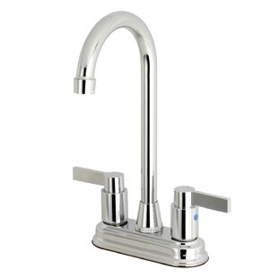 Kingston Brass NuvoFusion High-Arch Pull Down Bar Faucet