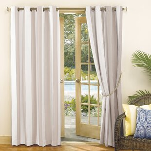 Valencia UV Protectant Cabana Striped Room Darkening Grommet Single Curtain Panel by Sun Zero Outdoors