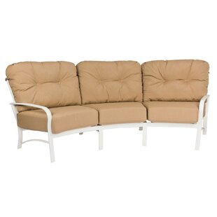 Woodard Fremont Crescent Patio Sofa with Cushions