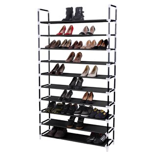 Reviews 10 Tier 50 Pair Stackable Shoe Rack By Songmics
