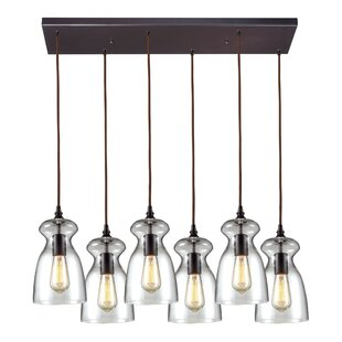 Brayden Studio Topete 6-Light Metal Kitchen Island Pendant