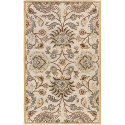 Arden Hand Tufted Wool Parchmentteal Area Rug Birch Lane