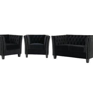 Kongsberg 3 Piece Sofa Set By Rosalind Wheeler