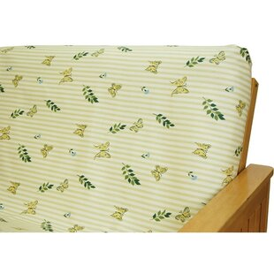 Comparison Paulette Butterfly Box Cushion Futon Slipcover by Easy Fit