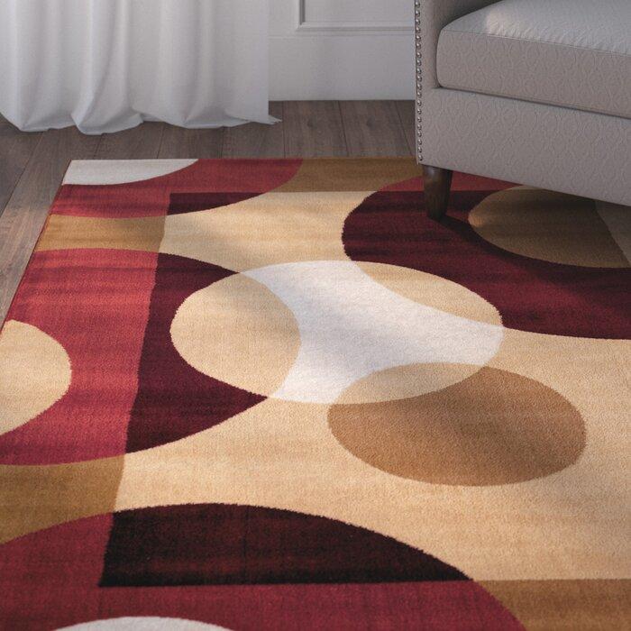 Ebern Designs Allison Geometric Multi Color Area Rug Reviews