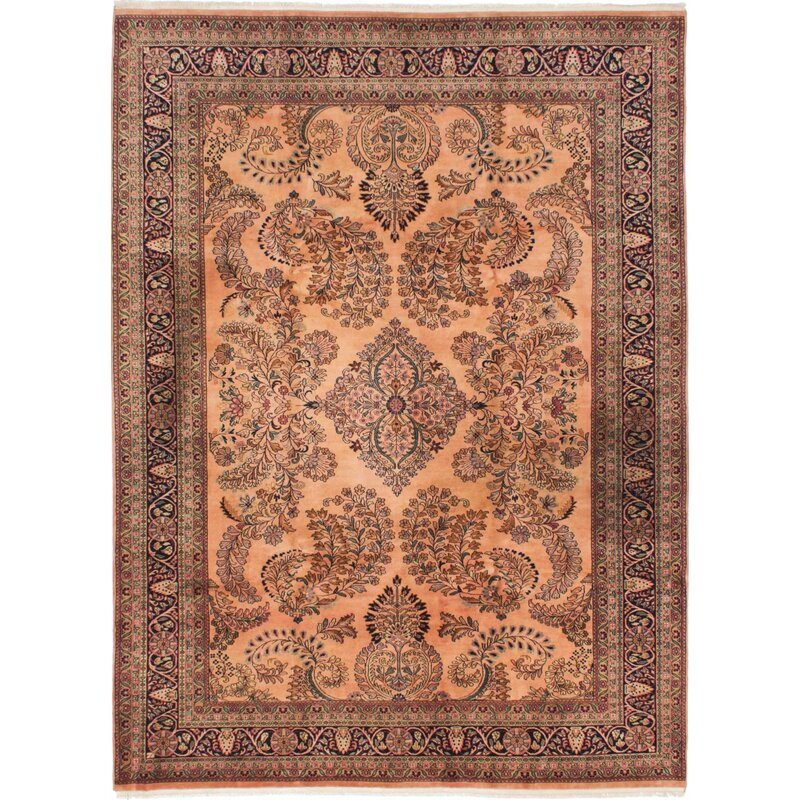 World Menagerie One Of A Kind Rockmart Hand Knotted 7 9 X 10 8 Wool Brown Area Rug Wayfair