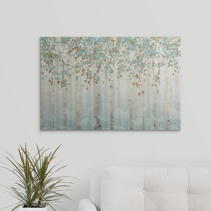 Candelabra Teal II Giclee Stretched Canvas Artwork 30 x 30 Global Gallery James Wiens