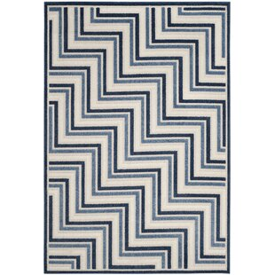 Holly Cream/Blue Indoor/Outdoor Area Rug