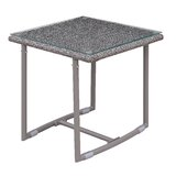 Bequette Glass Side Table