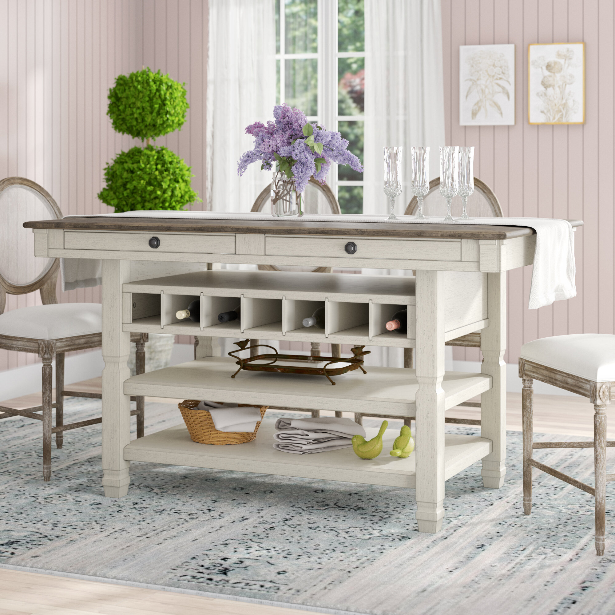 Tall White Kitchen Dining Tables Free Shipping Over 35 Wayfair