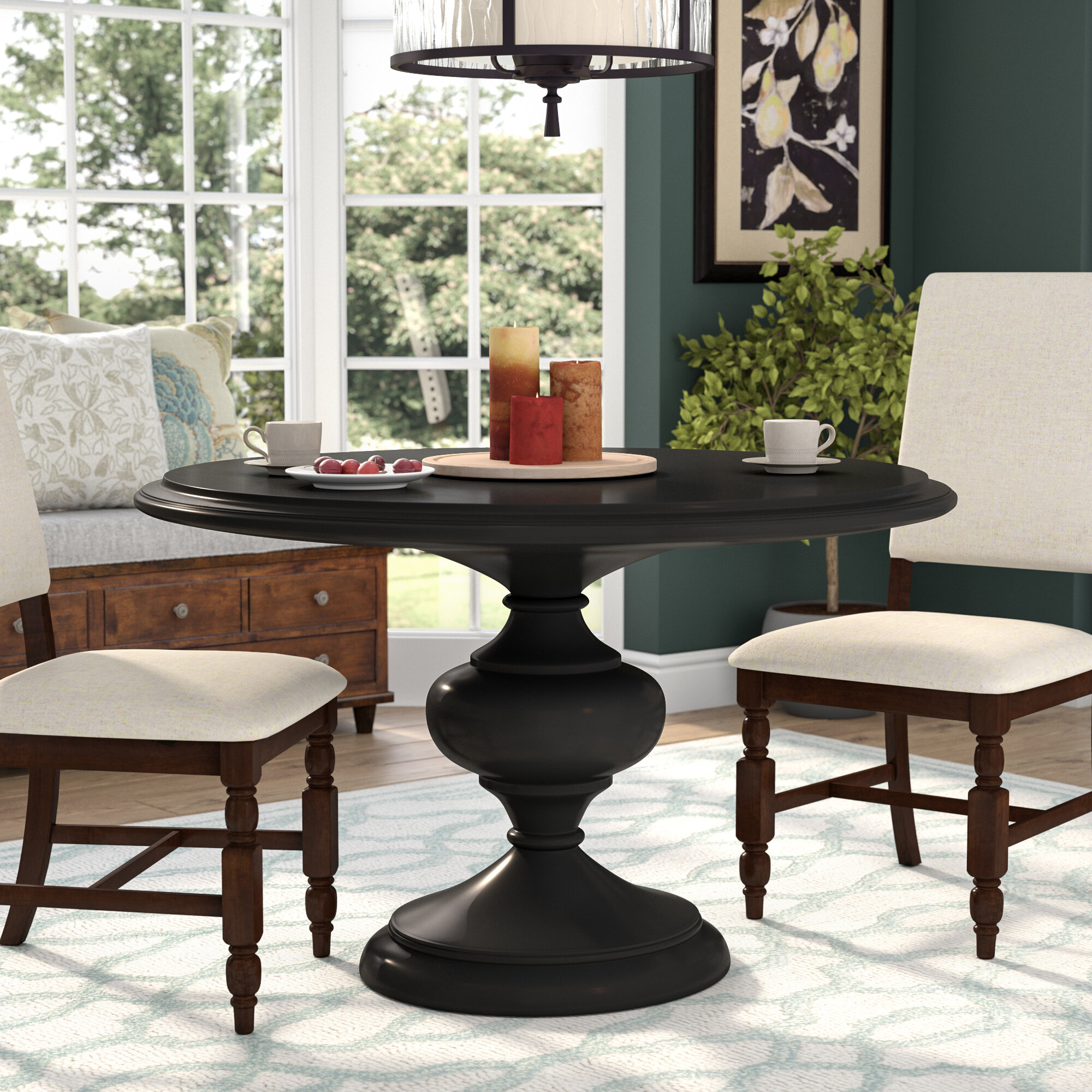 Darby Home Co Kerri Solid Wood Dining Table Reviews Wayfair