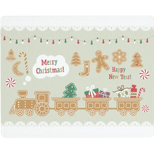 'Merry Christmas and Happy New Year' Glass Cutting Board