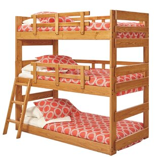 Check Prices Dusty Twin over Twin Triple Bunk Bed By Harriet Bee