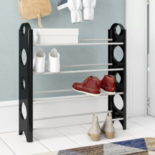 4-Tier Stackable Shoe Rack By Symple Stuff