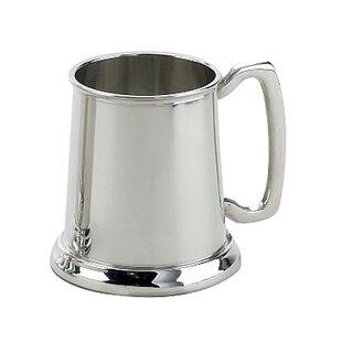 Ilka Plain Pewter Plated Tankard 16 oz. Stainless Steel Mug