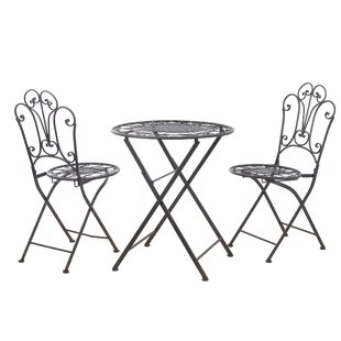 Honaker Metal 3 Piece Breakfast Nook Dining Set