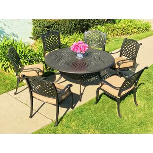 Beadle 7 Piece Sunbrella Dining Set with Cushions