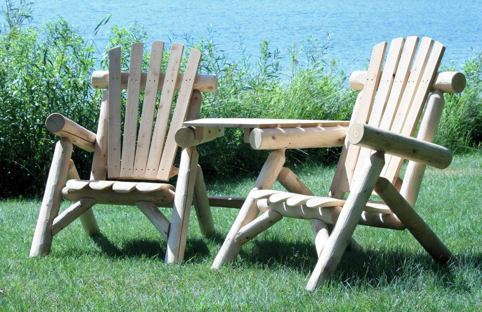 Heavy Duty Sun Lounger, Loon Peak Cotten Wood Adirondack Chair With Table Wayfair
