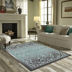 Dixie Gray/Blue Area Rug Pictures Gallery