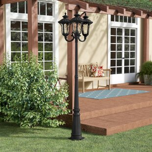 Best Choices Gurnee Outdoor 3-Light 87 Post Light By Three Posts