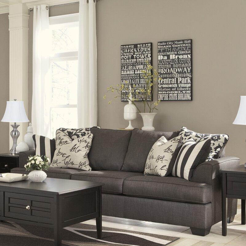 Levon Charcoal SofaSignature Design By Ashley Furniture Levon Loveseat In  Charcoal