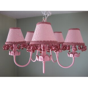 Silly Bear Lighting Mad About Mauve 5-Light Shaded Chandelier