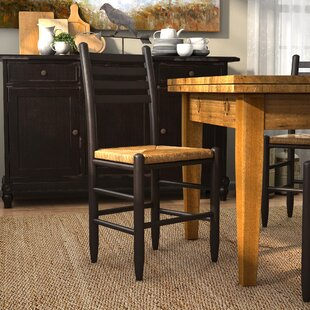 Blue Ridge Ladderback Solid Wood Dining Chair by August Grove