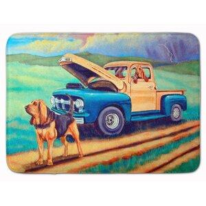 Bloodhound Memory Foam Bath Rug
