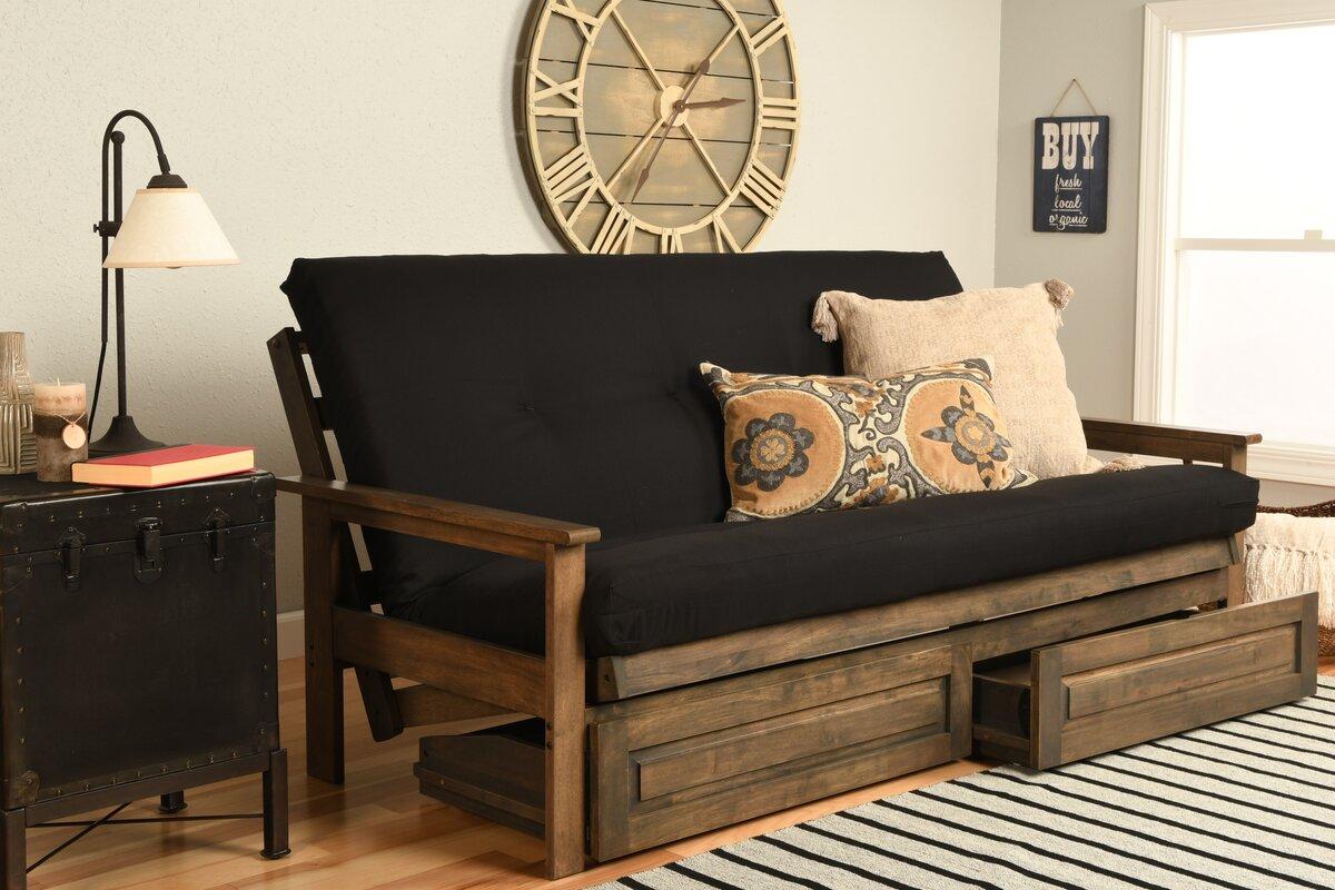 6   coil hinged full futon mattress kodiak furniture 6   coil hinged full futon mattress  u0026 reviews      rh   wayfair