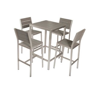 Baird Chicly Classy Anodized Aluminum 5 Piece Dining Set
