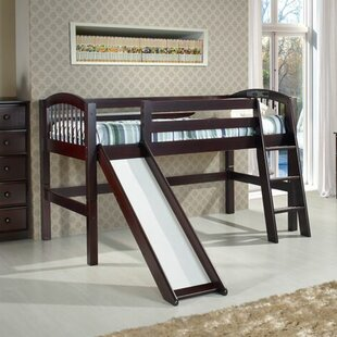 Oakwood Twin Wood Low Loft Bed by Harriet Bee
