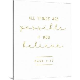 U0027Mark 9:23   Scripture Artu0027 Textual Art