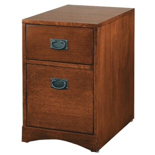 Martin Home Furnishings Mission Pasadena 2-Drawer Mobile File Cabinet