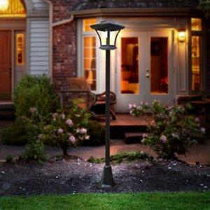 Solar Post 1-Light LED Pathway Light